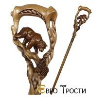 Трость ручной работы ГРИЗЛИ-ЛОВЕЦ ЛОСОСЯ-2