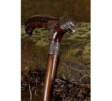 Деревянная трость для ходьбы - КОРИЧНЕВЫЙ БУК-5